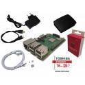 Raspberry Pi 3B+ (2018) starter kit met 16GB, voeding, behuizing, heatsink, HDMI- & netwerk kabel