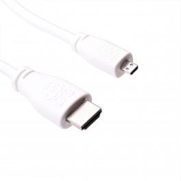 Officiële Micro-HDMI naar Standaard HDMI 2.0 (A/M) (Geschikt voor 4K) (Wit, 1 meter)