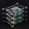 Stapelbare behuizing - helder - voor 3 Raspberry Pi's