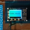 GFX HAT - 128x64 LCD Display met RGB Backlight en Touch Buttons